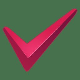 Marca de seleção de marca vermelha