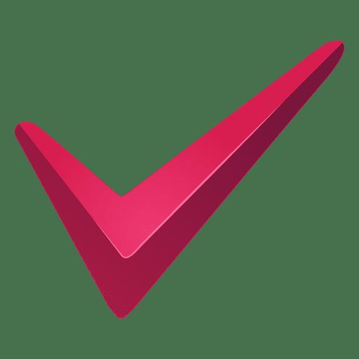 Marca de verificación de marca roja Transparent PNG