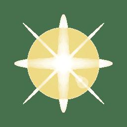 Destello de lente de luz brillante