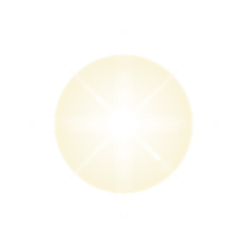 Bright light lens flare Transparent PNG