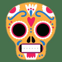 Gelbe Schädel Mexiko