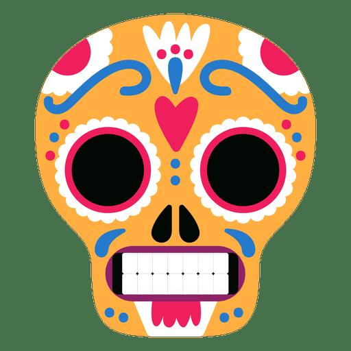 Yellow skulls mexico Transparent PNG