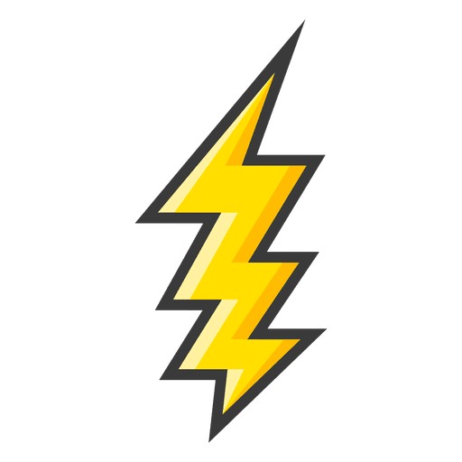 Yellow large lightning bolt