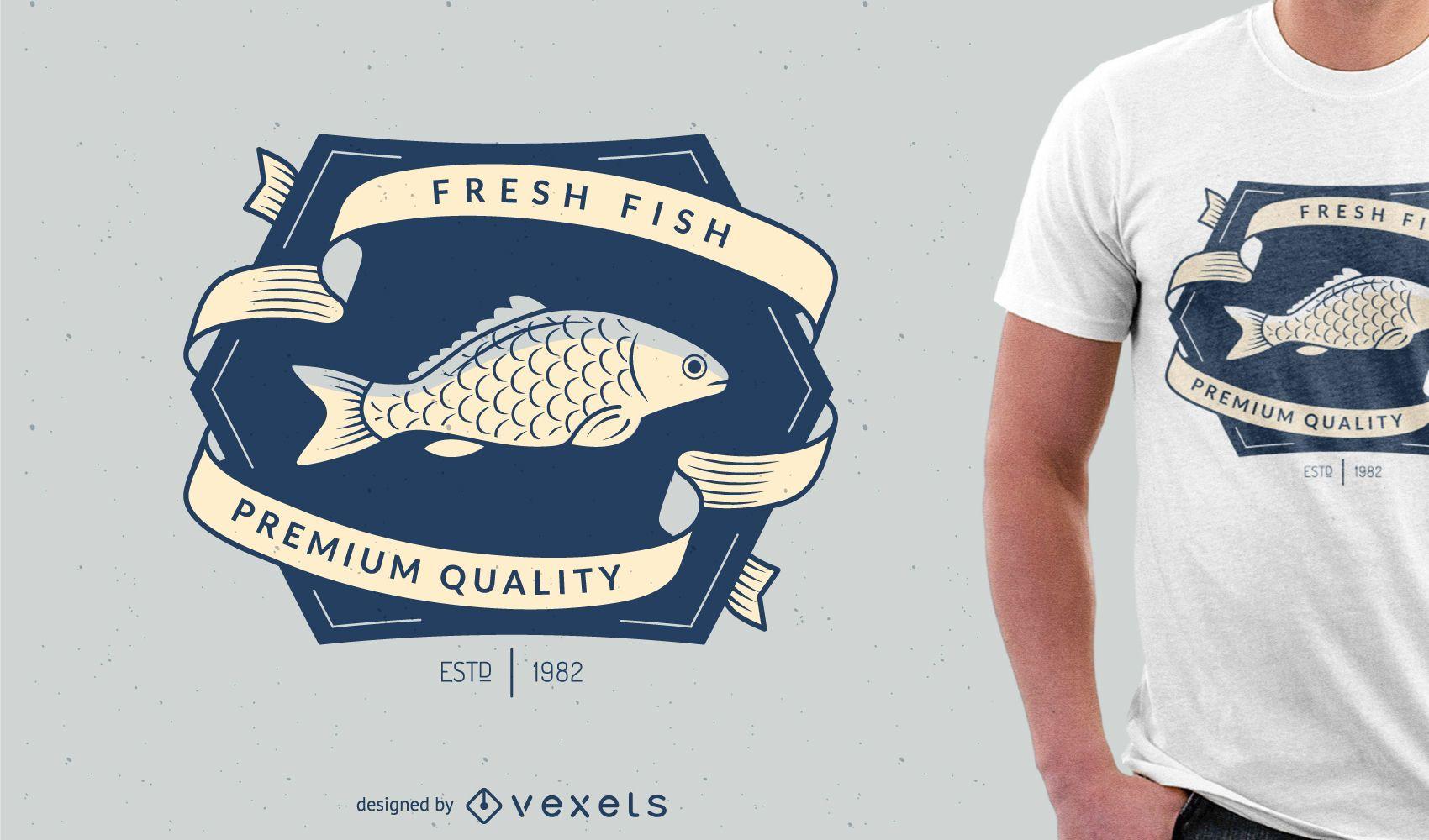 Design de camiseta de pesca