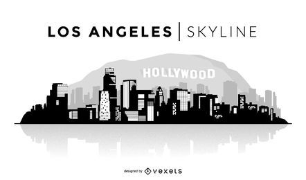Los Angeles skyline silhouette