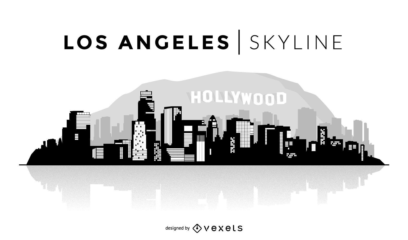 Ilustração do horizonte de Los Angeles