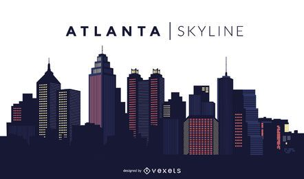 Atlanta skyline design