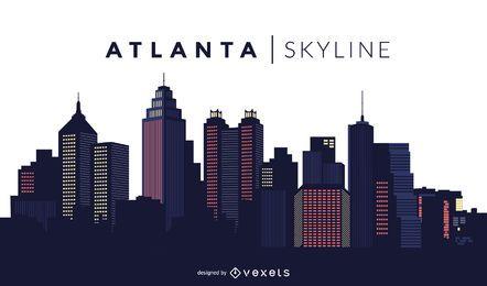 Desenho do horizonte de Atlanta