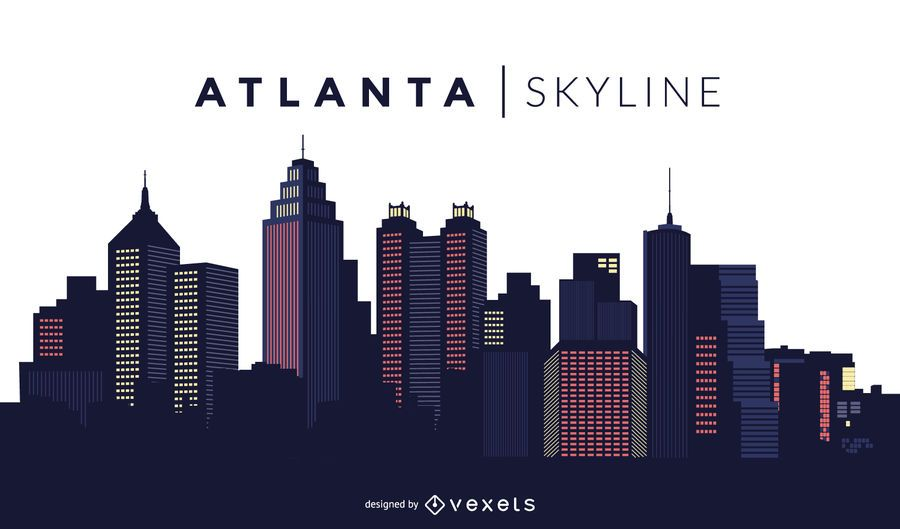 Atlanta skyline design