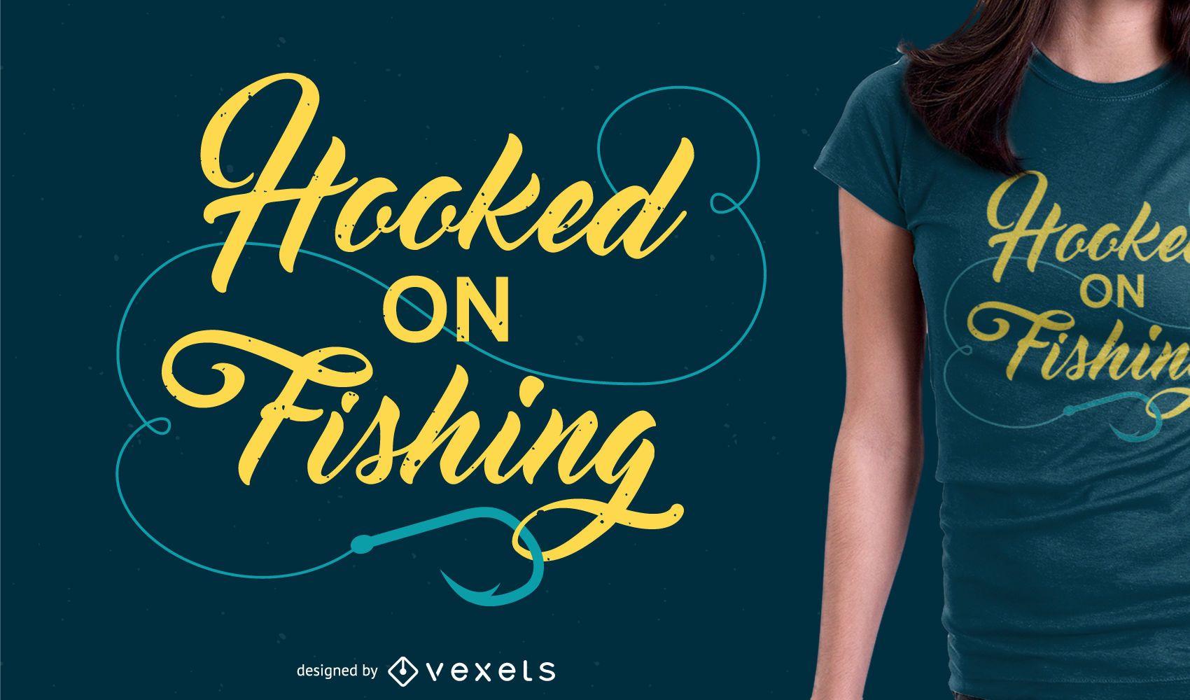 Diseño de mercancía de camiseta de pesca