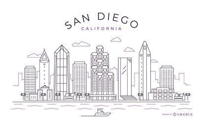 San Diego stroke skyline