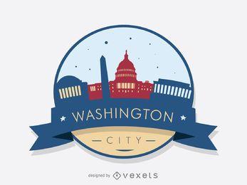 Washington Skyline Abzeichen