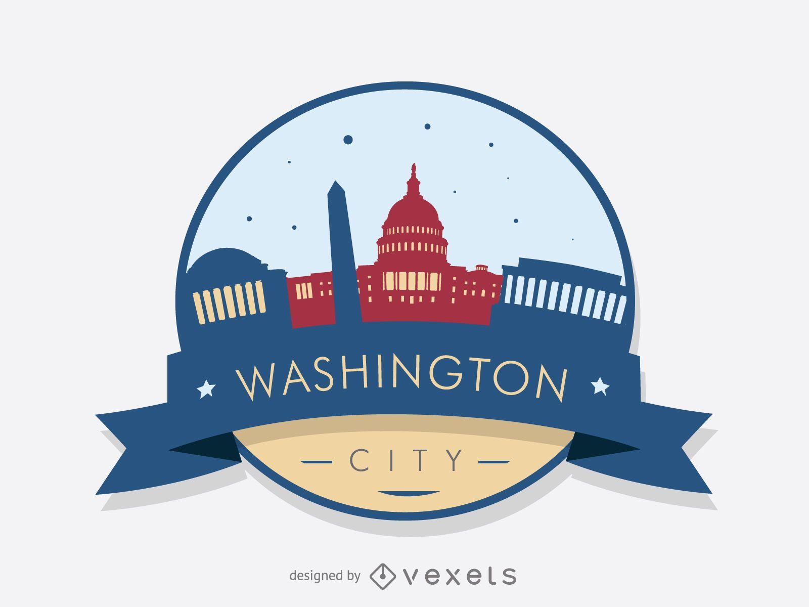 Washington skyline badge