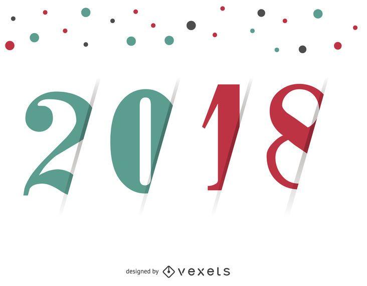 Helles 2018 Zeichen mit bunten Punkten