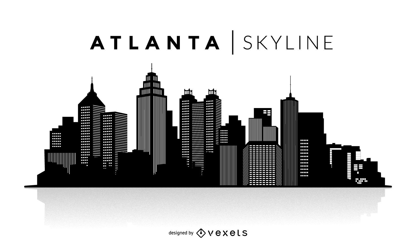 atlanta silhouette skyline - vektor download  vexels
