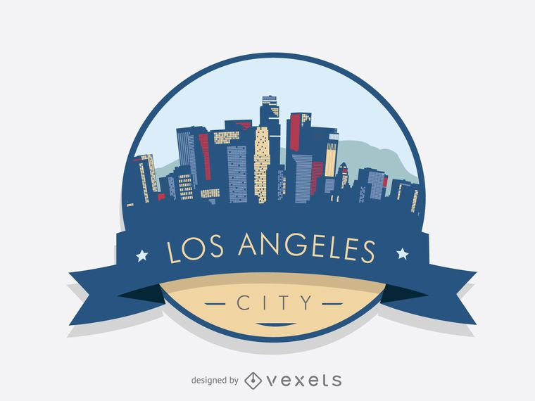 Los Angeles badge skyline