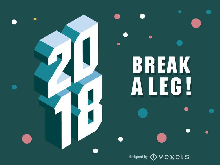 2018 polygonales 3D-Zeichen