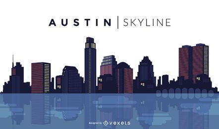 Desenho do horizonte de Austin