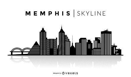 Skyline de silhueta de Memphis