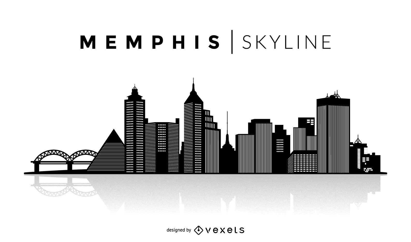 Horizonte de silueta de Memphis