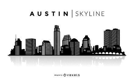 Skyline de silhueta de Austin