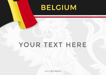 Plantilla de diseño de Bélgica