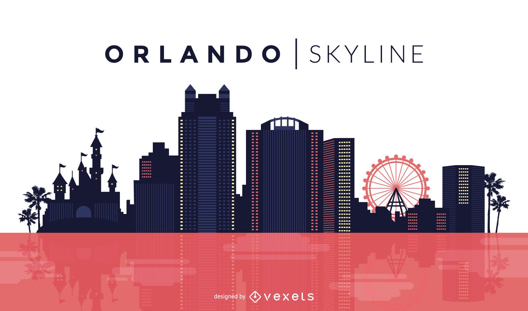 Desenho do horizonte de Orlando