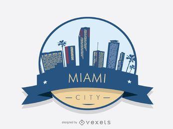 Miami Skyline-Abzeichen