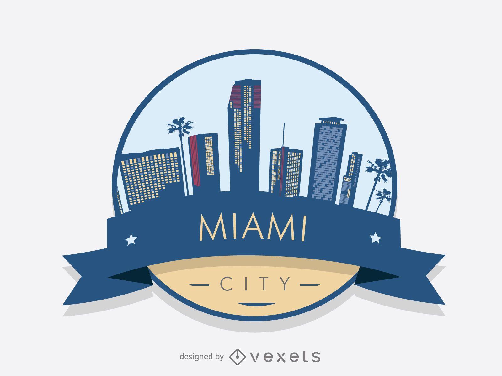 Miami Skyline Badge