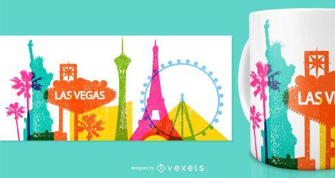 Projeto da caneca da mercadoria de Las Vegas