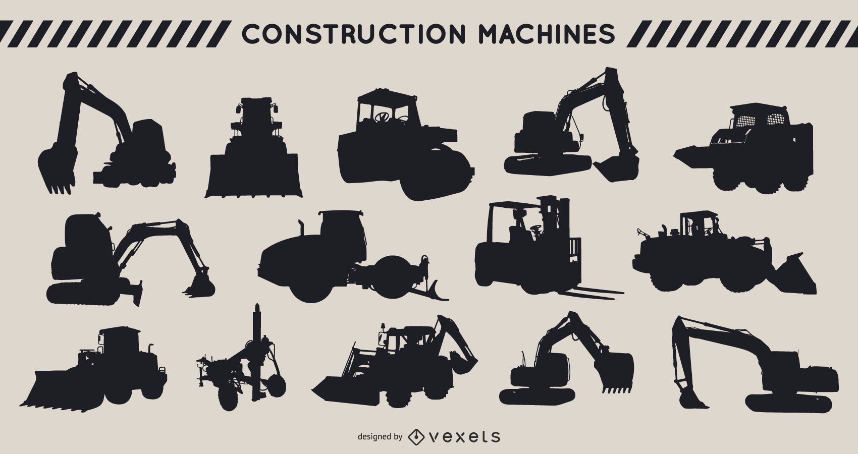 Construction Heavy Equipment Silhouette Pack