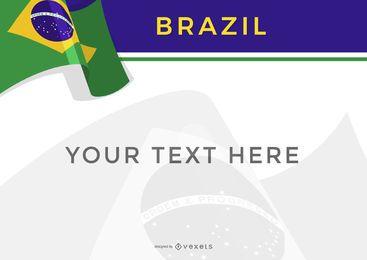 Plantilla de diseño de brasil