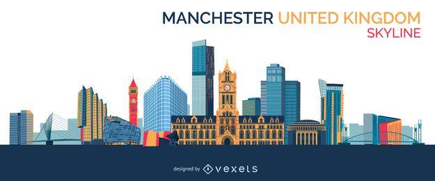 Desenho do horizonte de Manchester
