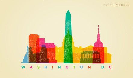 Bunte Skyline von Washington DC