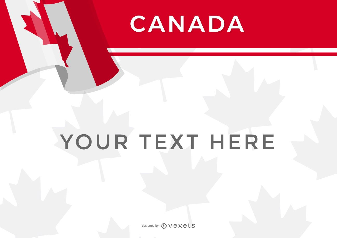 canada flag design template vector download