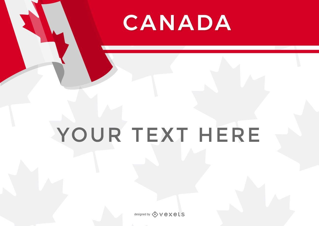 Plantilla de diseño de bandera de Canadá