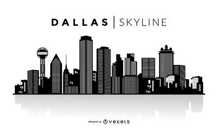Skyline de silhueta de Dallas