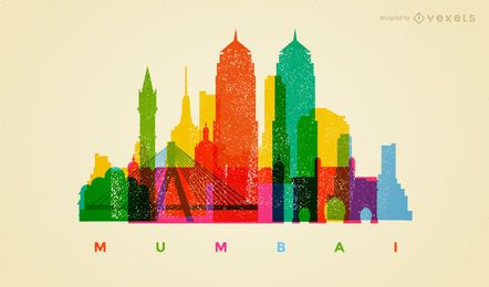 Colorful Mumbai skyline