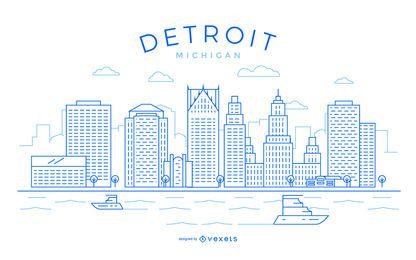 Detroit stroke skyline