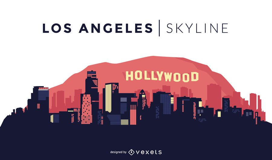 Admirable Los Angeles Skyline Design Vektor Download Home Interior And Landscaping Eliaenasavecom