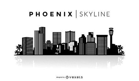 Silhueta do horizonte de Phoenix