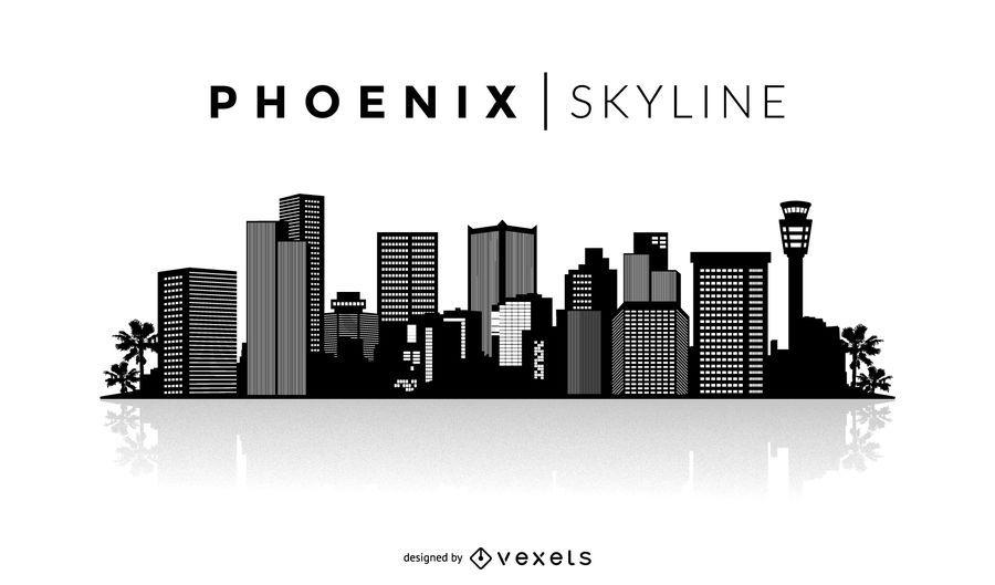 Silhueta de horizonte de Phoenix
