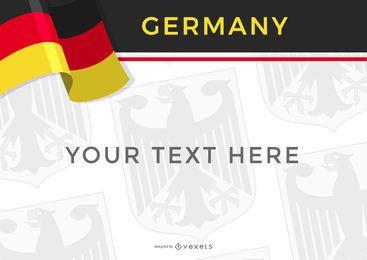 Deutschland Designvorlage