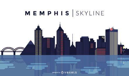 Memphis diseño del horizonte