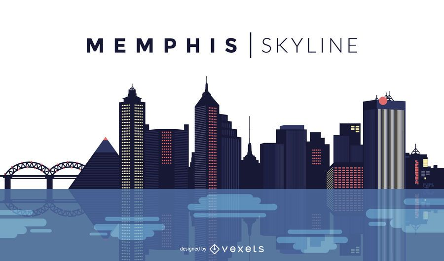 Memphis skyline design