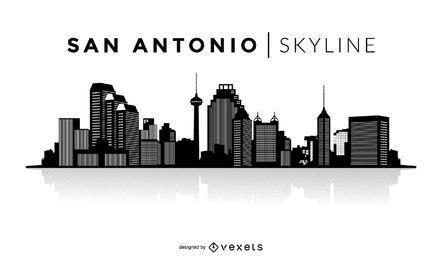 Skyline de silhueta de San Antonio