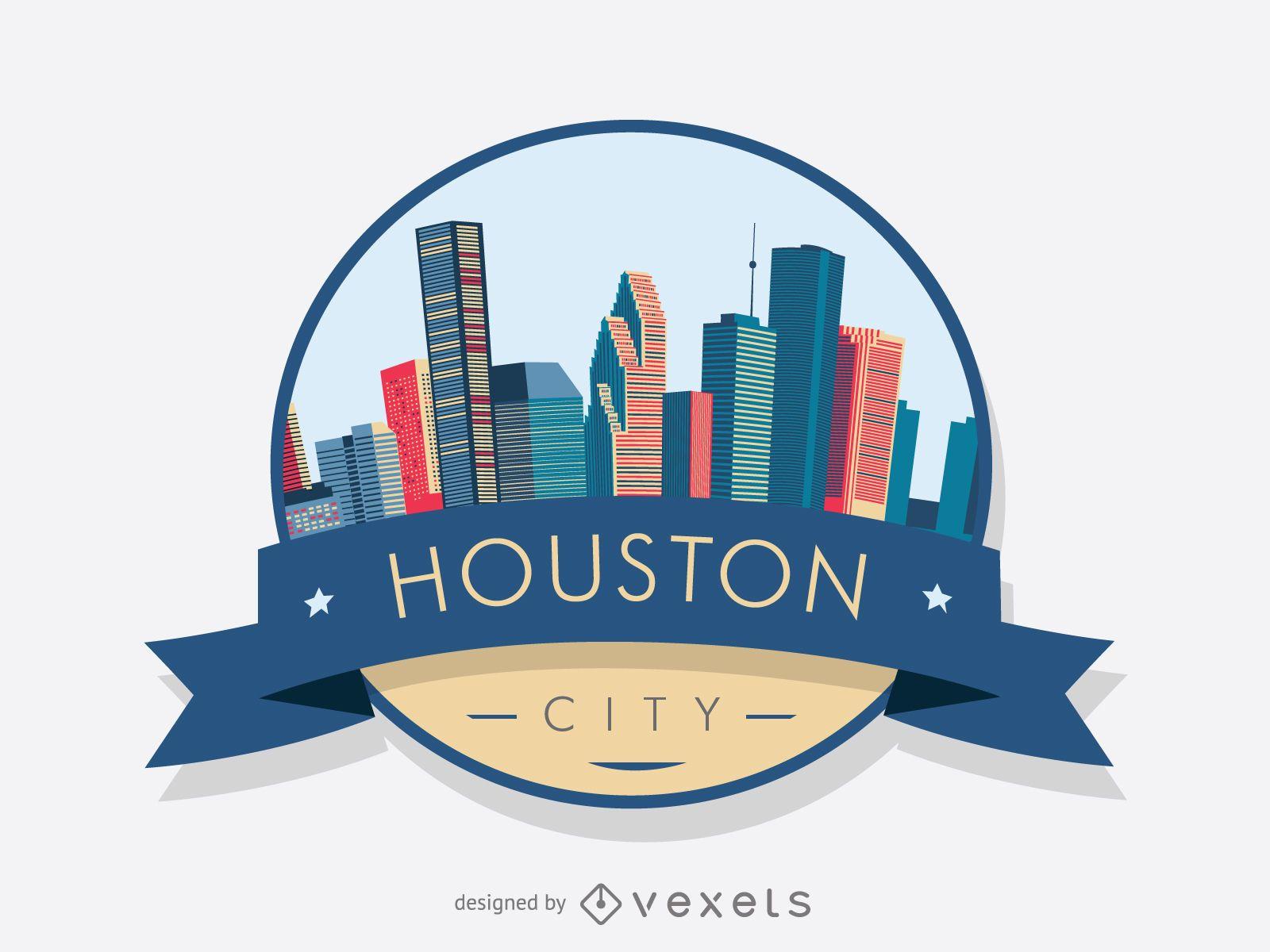 Houston Skyline Badge