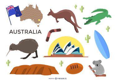Conjunto de elementos da Austrália