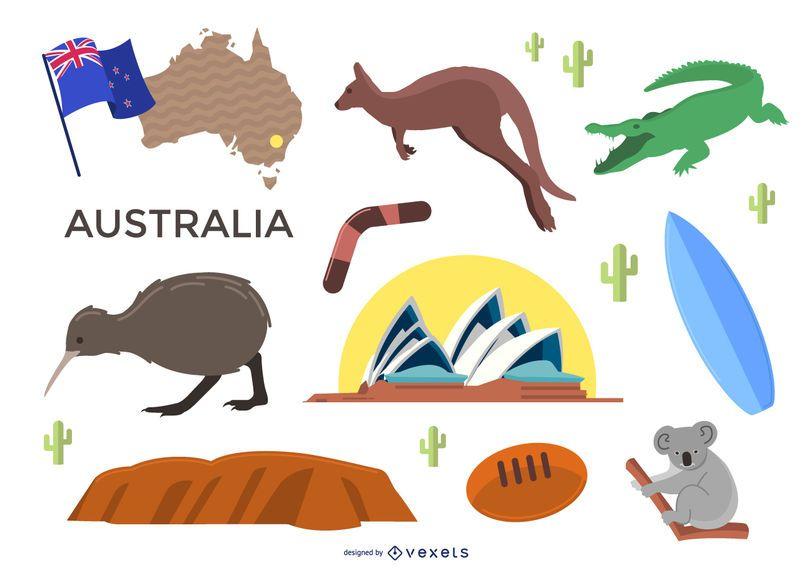 Conjunto de elementos de Australia
