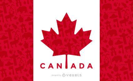 Diseño de la bandera de canadá